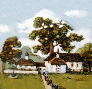 Kapelle mit Eiche
